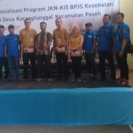 Sosialisasi Program JKN-KIS BPJS Kesehatan Desa Karangtunggal Kec. Paseh Kab. Bandung